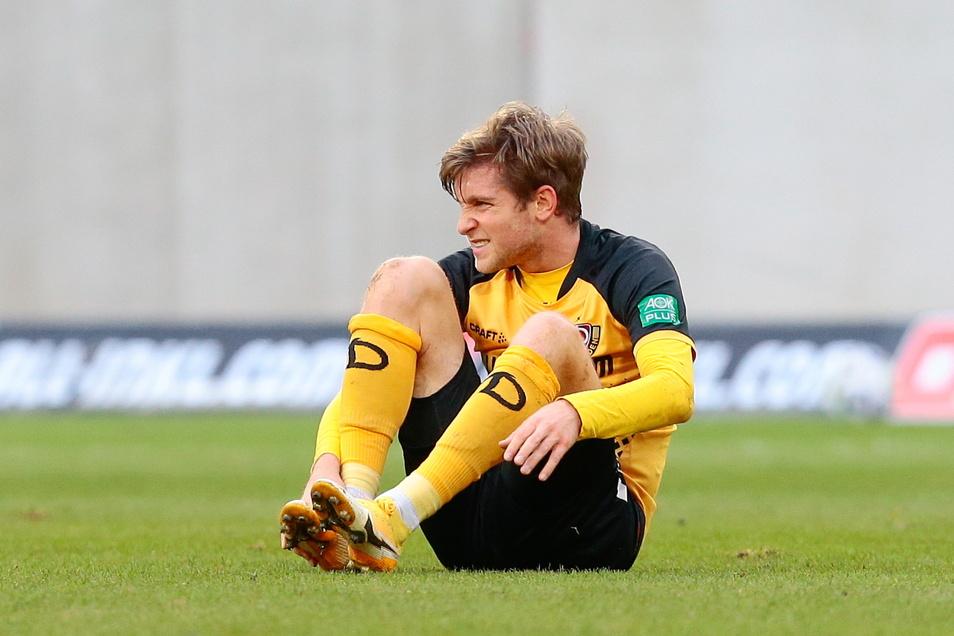 Dynamo-Profi Patrick Weihrauch ist seit Januar verletzt. Nun wurde ihm Narbengewebe im rechten Sprunggelenk entfernt.