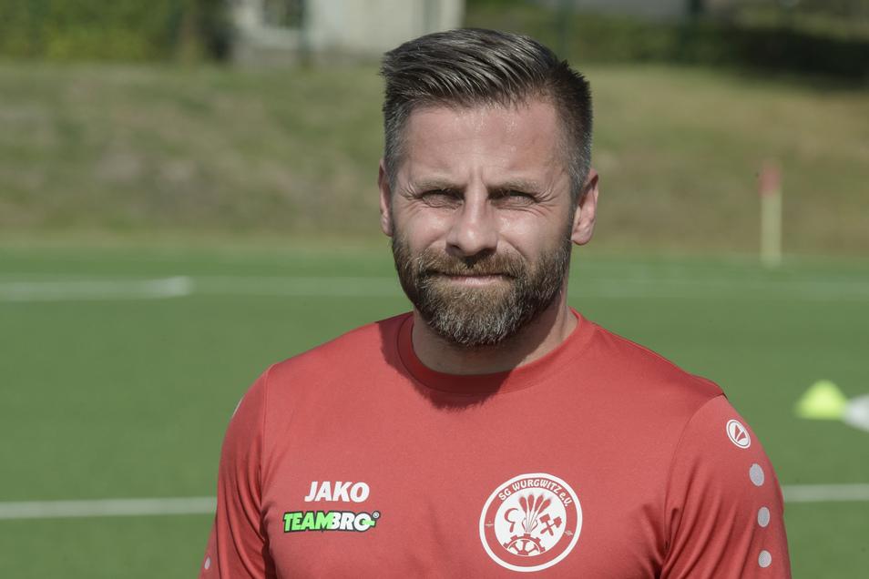 """""""Man sollte große Ziele haben, aber mit einem geduldigen Plan"""", sagt Kai Starke, Spielertrainer der SG Wurgwitz."""