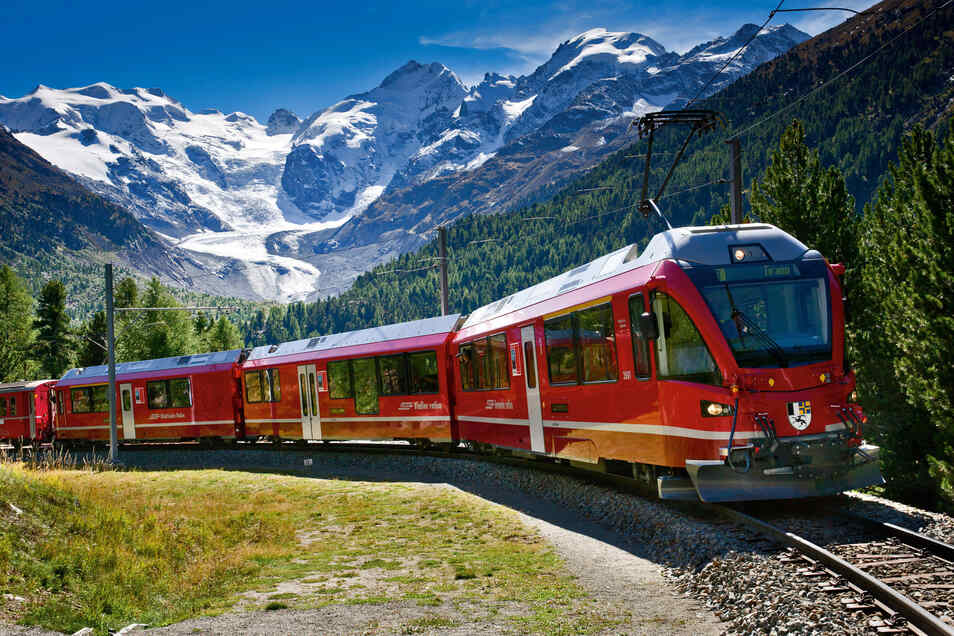 Entlang des Bernina Pass