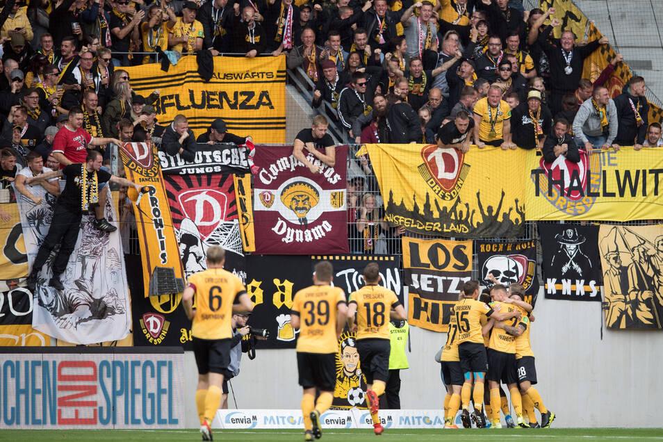Dynamo will - und muss - am Sonntag gegen Aue jubeln.