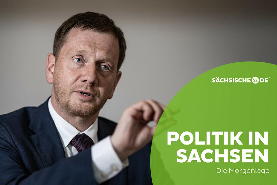 Sachsens Ministerpräsident Michael Kretschmer plädiert wie seine Gesundheitsministerin für strenge Corona-Kontrollen zum Beispiel für Urlaubsrückkehrer.