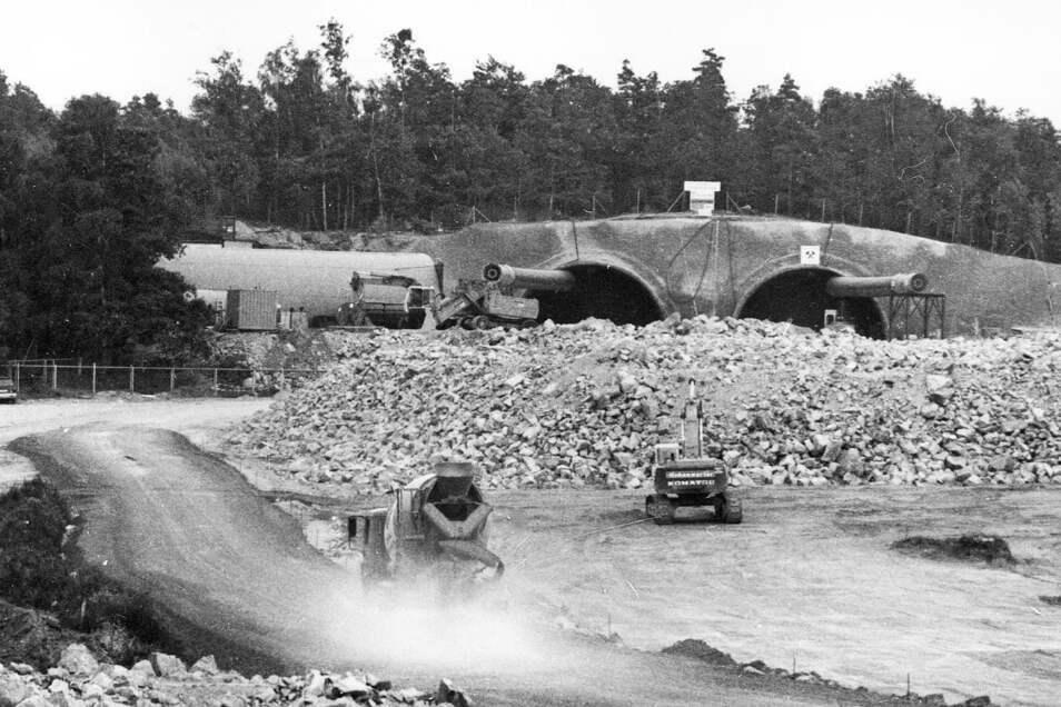 Ein Eindruck vom Tunnelbau.