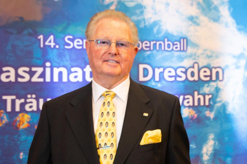 Heinz-Jürgen Preiss-Daimler war im vergangenen Jahr gefeierter Preisträger des Sachsen-Preises auf dem Semperopernball.