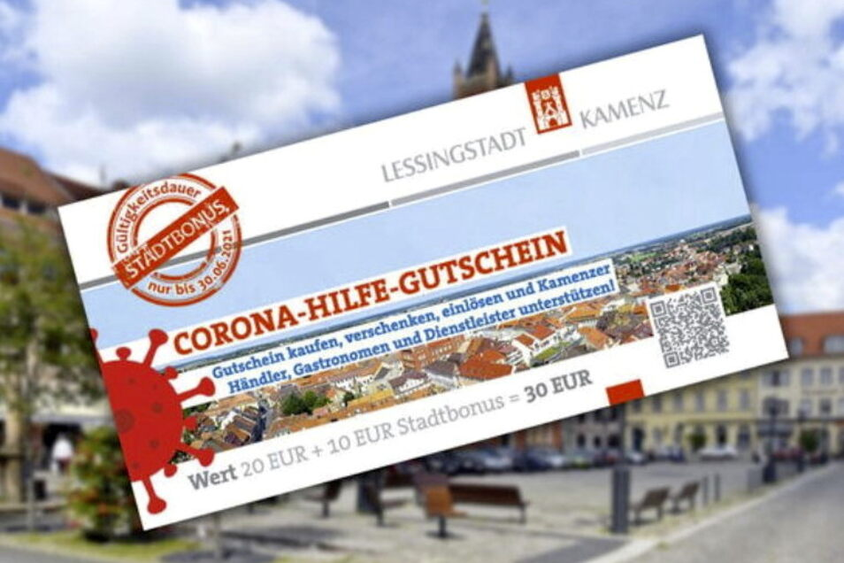 Ab sofort kann der Kamenzer Corona-Hilfe-Gutschein online erworben werden. Später soll es ihn auch in der Stadtinformation geben.