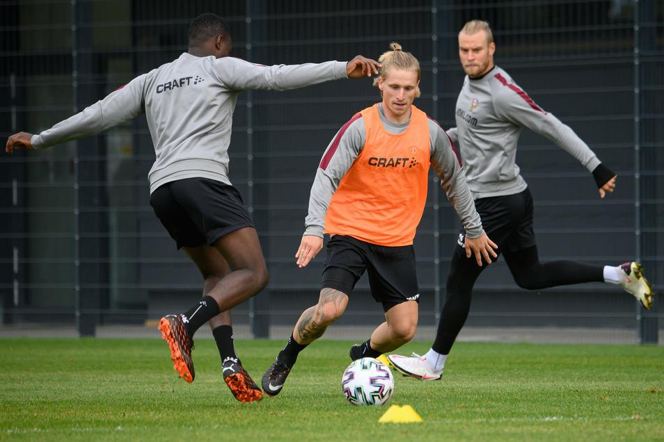 """Dresden am 6. Oktober 2020: Marvin Stefaniak ist zurück. Nach seinem ersten Training stellt er klar: """"Derby ist Derby, also alles reinhauen."""""""