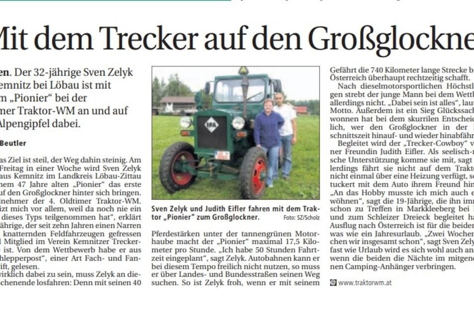 Heldenhafte Aktion: So berichtete die SZ 2005 über die Fahrt zum Großglockner, die 750 Kilometer lang war.