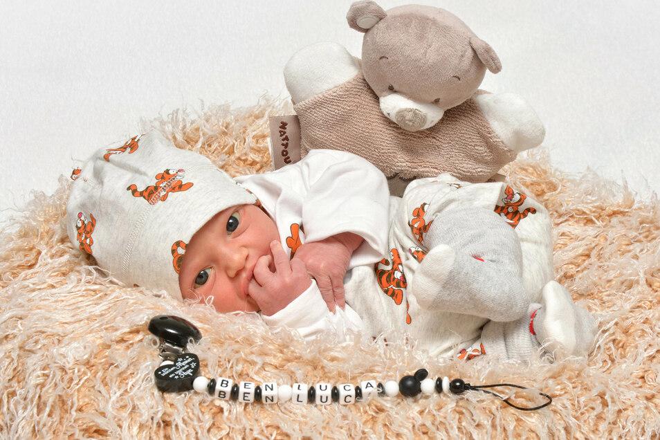 Ben Luca, geboren am 17. Juni, Geburtsort: Freital, Gewicht: 3.130 Gramm, Größe: 51 Zentimeter, Eltern: Melissa Preiß, Wohnort: Freital