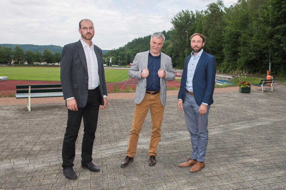"""Martin Rülke (links), Uwe Rumberg (Mitte) und Peter Pfitzenreiter gründen mit Gleichgesinnten den Verein """"Konservative Mitte""""."""