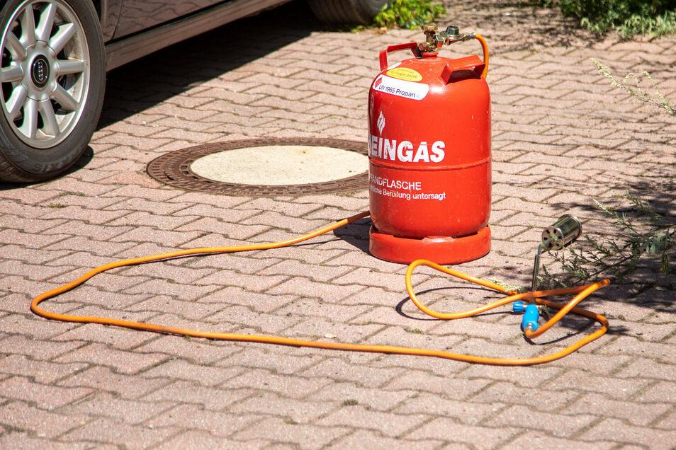 Als Ursache für den Brand wird Unkrautvernichtung mittels Gasbrenner vermutet.