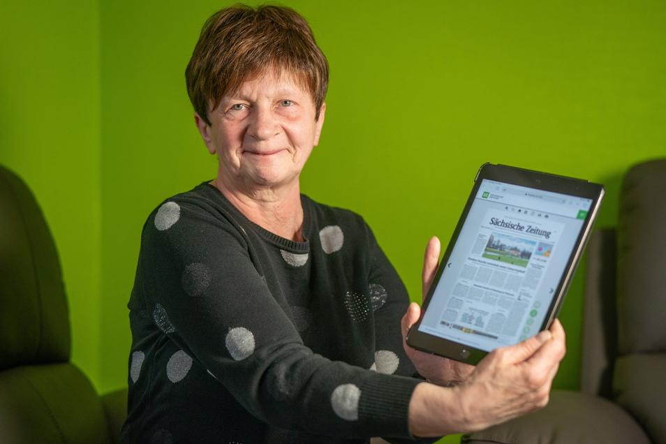 40 Jahre las Gabriele Dittrich auf Papier, dann entdeckte sie das E-Paper.