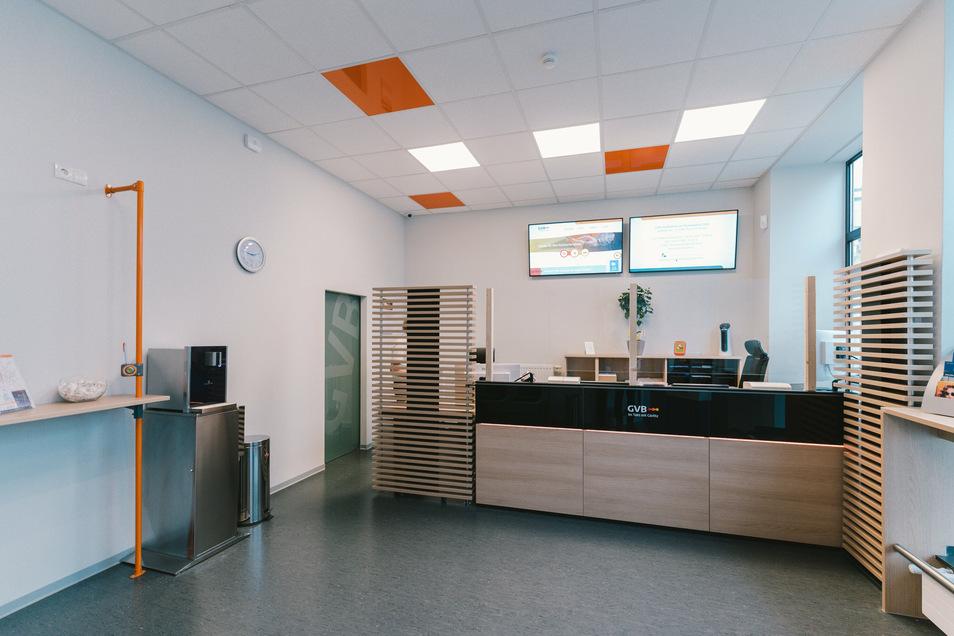 So sieht es im neuen GVB-Kundenbüro am Demianiplatz 23/24 in Görlitz aus.