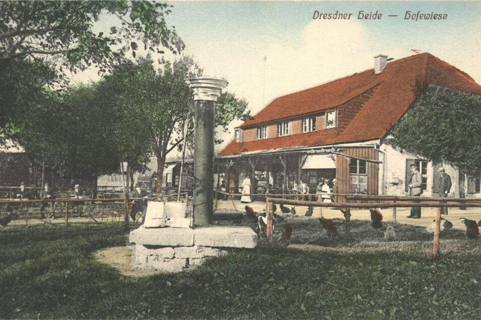 1877 wurde dann die Schankkonzession erteilt. Die Postkarte stammt aus dem Jahr 1910.