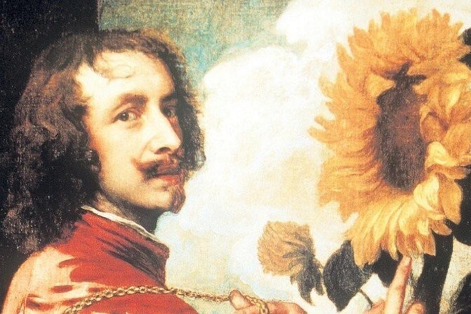 """Wieder da? Antonis van Dycks """"Selbstbildnis mit Sonnenblume""""."""