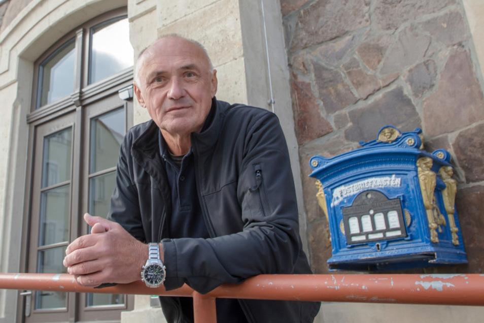 Lothar Brandau streitet für eine wertvolle Bebauung in Freitals Zentrum.