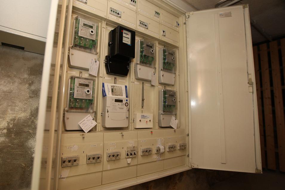 Schaltkasten im Keller: Der Stromzähler für die Wohnung von Thomas Mache fehlt.