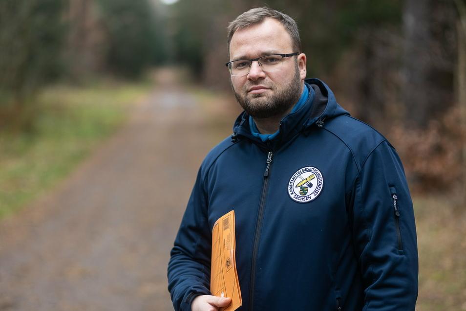 André Mauermeister leitet den Kampfmittelbeseitigungsdienst. Wegen Corona muss er alle Räumstellen, auch die in der Dippser Heide, vorerst schließen.