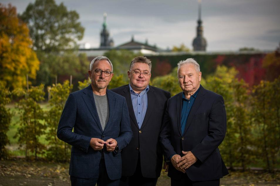 V.l.: Frank Müller, Steffen Bieder, Berndt Dietze. Foto: Sven Ellger Foto: Sven Ellger