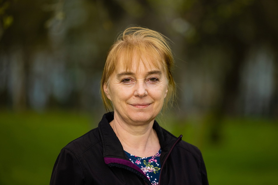 Katrin Müller vom Landschaftspflegeverband Sächsische Schweiz Osterzgebirge