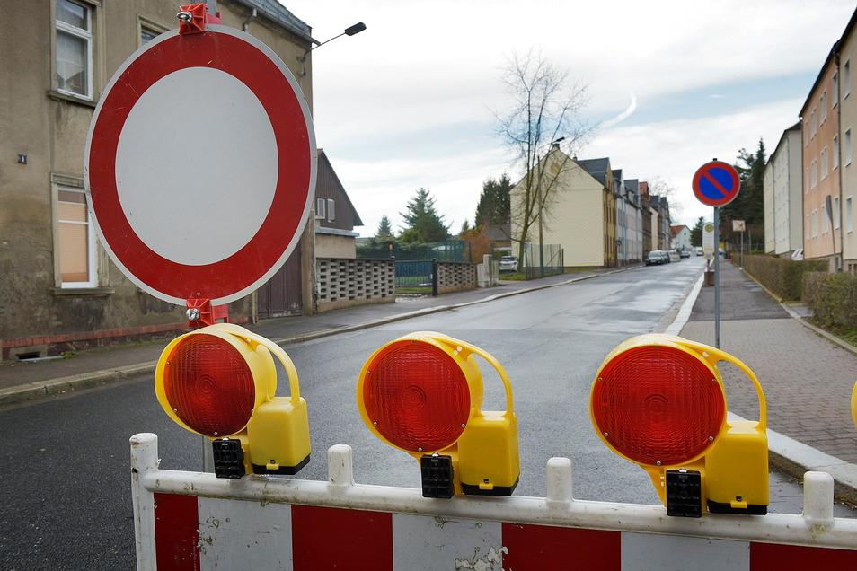 Auf eine Vollsperrung müssen sich die Anwohner des der Kurzen Straße/Vogtstraße in Waldheim einstellen.