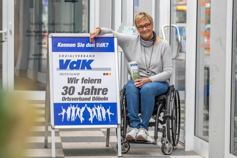 Michaela Hustig und ihre Mitstreiter feiern das 30-jährige Bestehen des VdK-Ortsverbandes Döbeln.