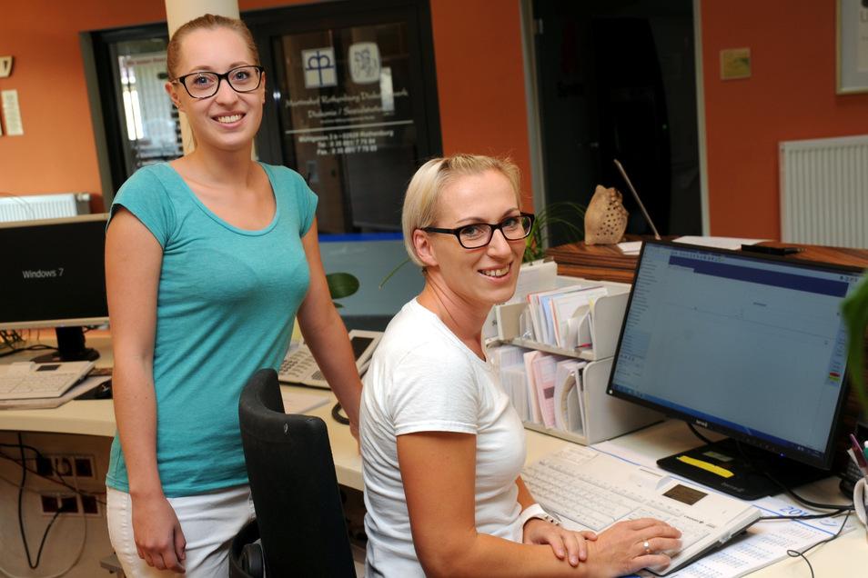 Auch Natalie Pietsch und Nicolle Eckhardt im Medizinischen Versorgungszentrum des Martinshofs Rothenburg gehören nun zur Diakonie St. Martin.