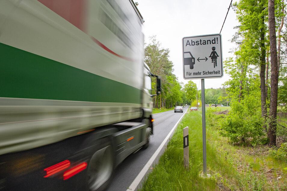 Ein solches Zusatzschild hätten die Wildenhainer gern an der B 98 aufgestellt. Doch die Verkehrsbehörde hat das jetzt verworfen.