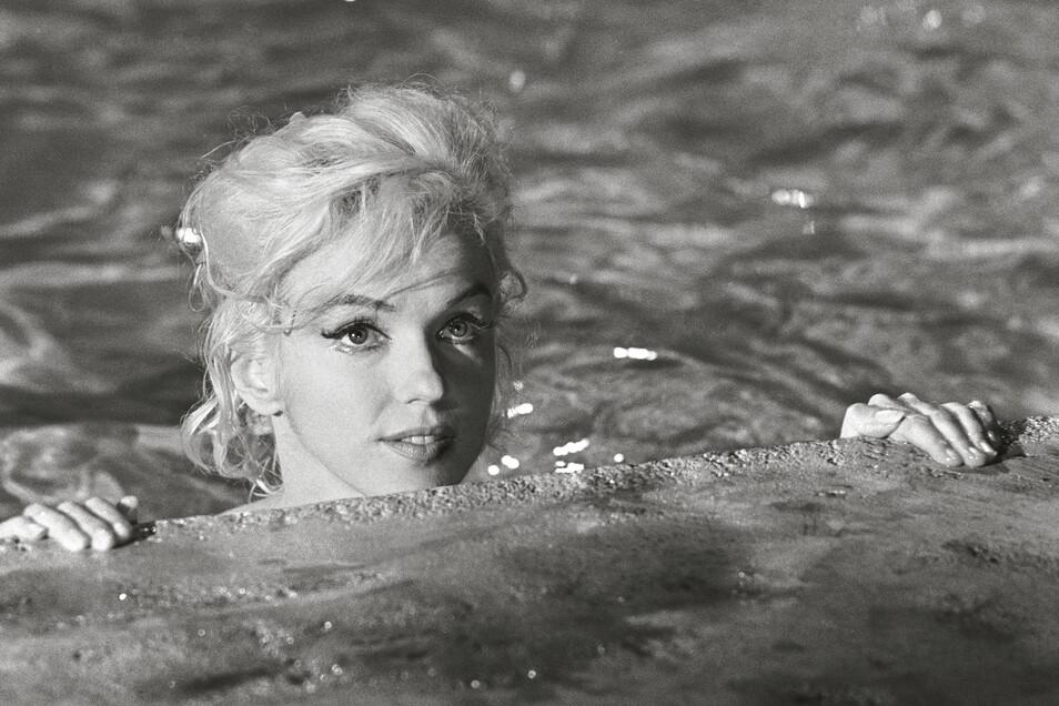 """Marilyn Monroe am Set zum unvollendet gebliebenen Film """"Something's Got to Give""""."""