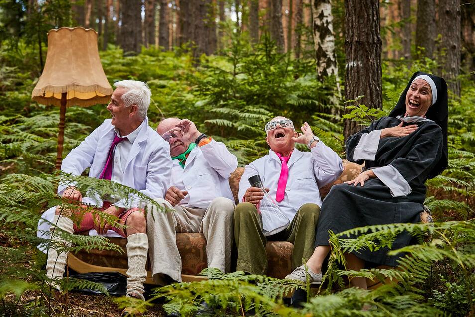 """Im """"Elbwood Forest"""" bei Kleingießhübel gibt es offenbar viel zu lachen."""
