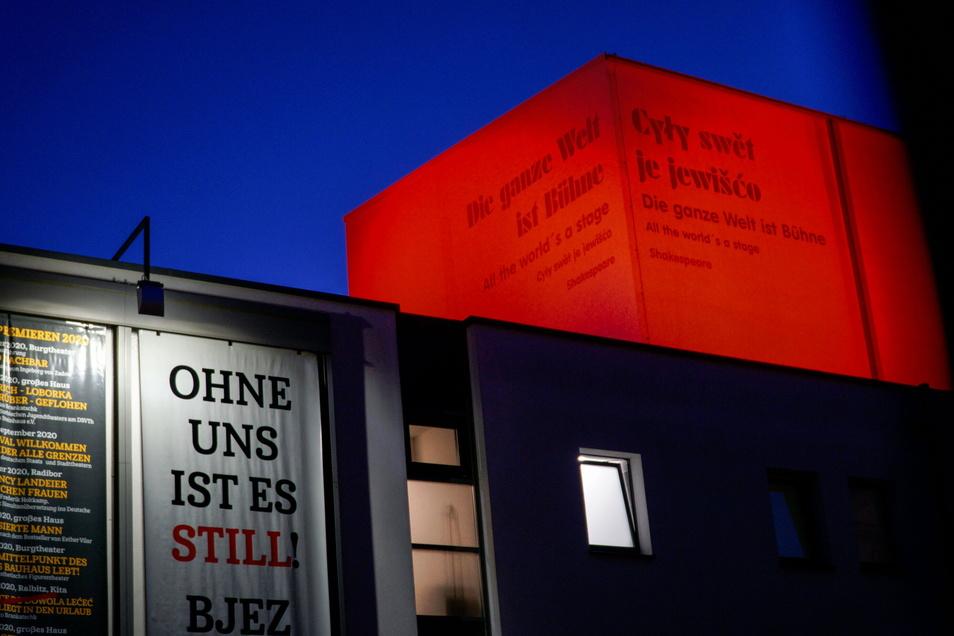 Das Deutsch-Sorbische Volkstheater Bautzen hat sich am Montag am deutschlandweiten Aktiontionstag von Theatern und Orchestern beteiligt.