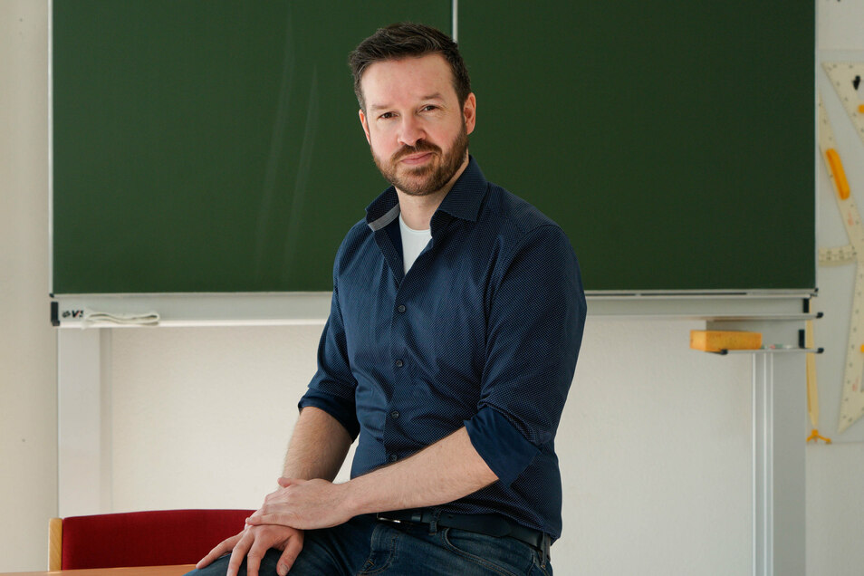 Marco Dehlan ist von seinen Schülern an ein Bischofswerdaer Förderschule positiv überrascht.