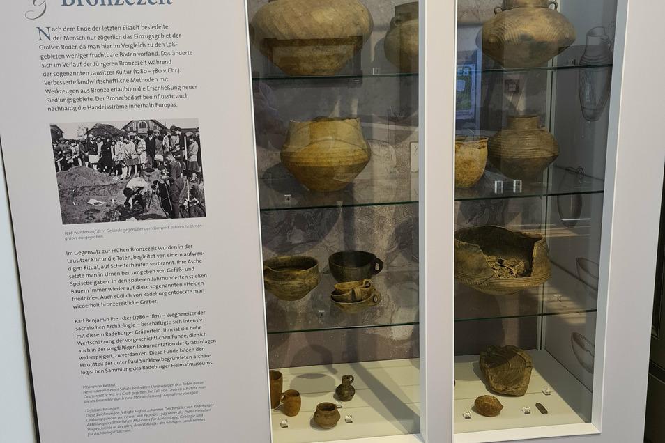 Funde aus der Radeburger Gegend gibt es schon aus der Bronzezeit im Stadtmuseum.