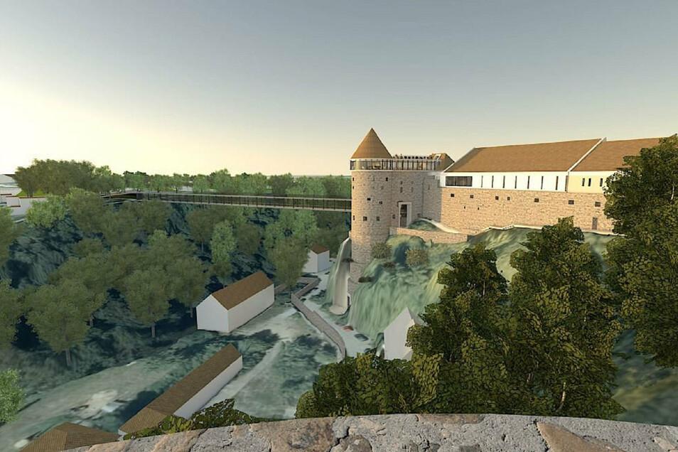 In Bautzen könnte eine neue Brücke vom Protschenberg über die Spree zur Ortenburg führen. Das Projekt ist umstritten.