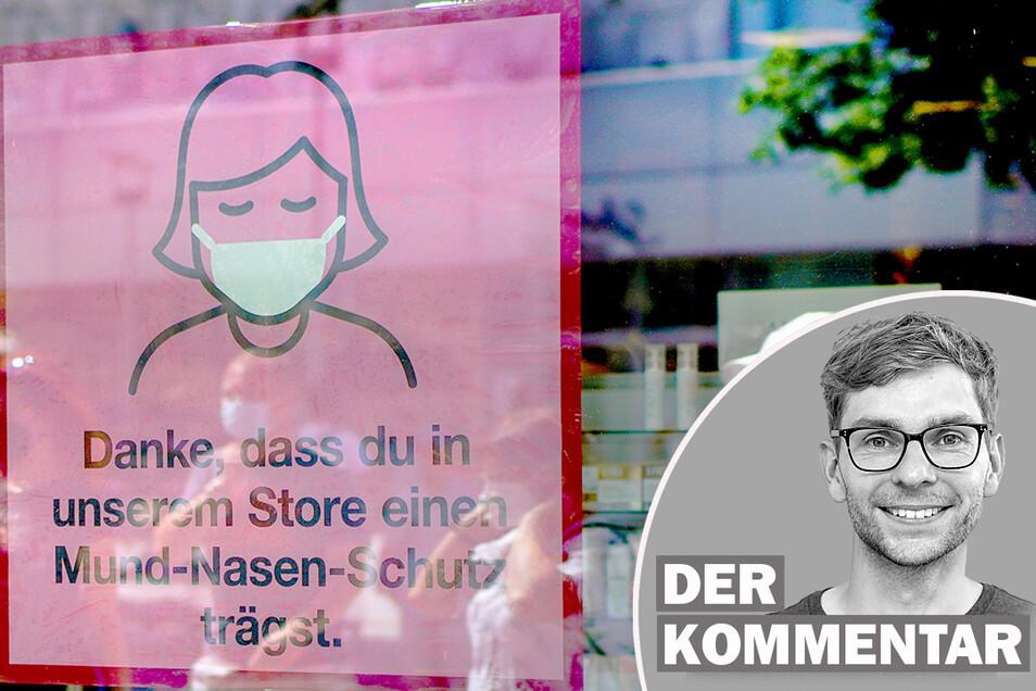 In Dresden muss seit dem Wochenende beim Einkaufen wieder Maske getragen werden. Ab Dienstag dann auch in Leipzig.