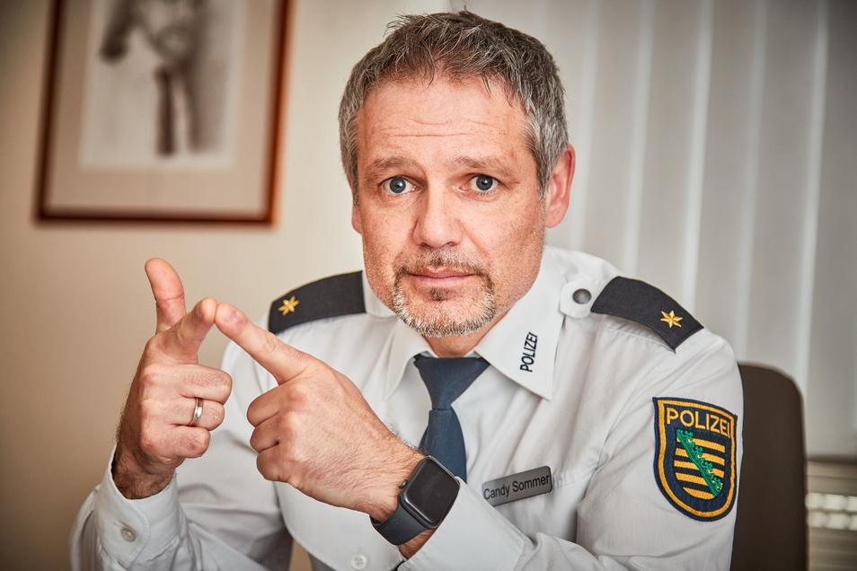 """Pirnas Polizeichef Candy Sommer: """"Je länger das Ziel nicht in Sicht ist, umso mehr werden die Bürger mit kritischer Haltung."""""""