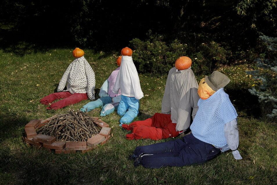 Jedes Jahr denken sich zahlreiche Luwigsdorfer neue Figuren aus, die man aus Kürbis machen kann.