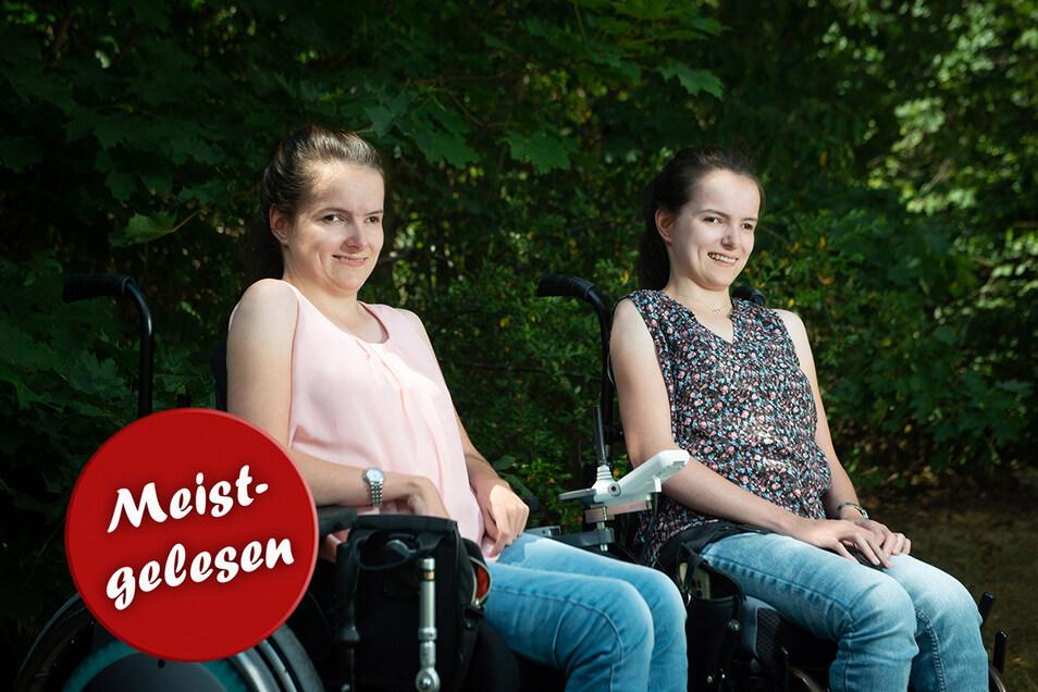 Sophie (links) und Alisa Kloseck wollten in die Großstadt ziehen, um hier ihr eigenes Leben aufzubauen, trotz schwerer Behinderung.