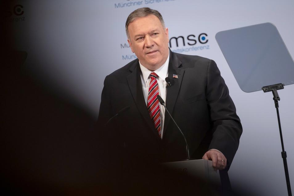 Mike Pompeo, Außenminister der USA, bei der Münchner Sicherheitskonferenz.