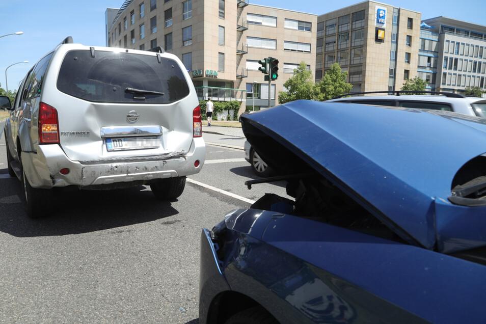 Blick auf die Unfallstelle an der Budapester Straße