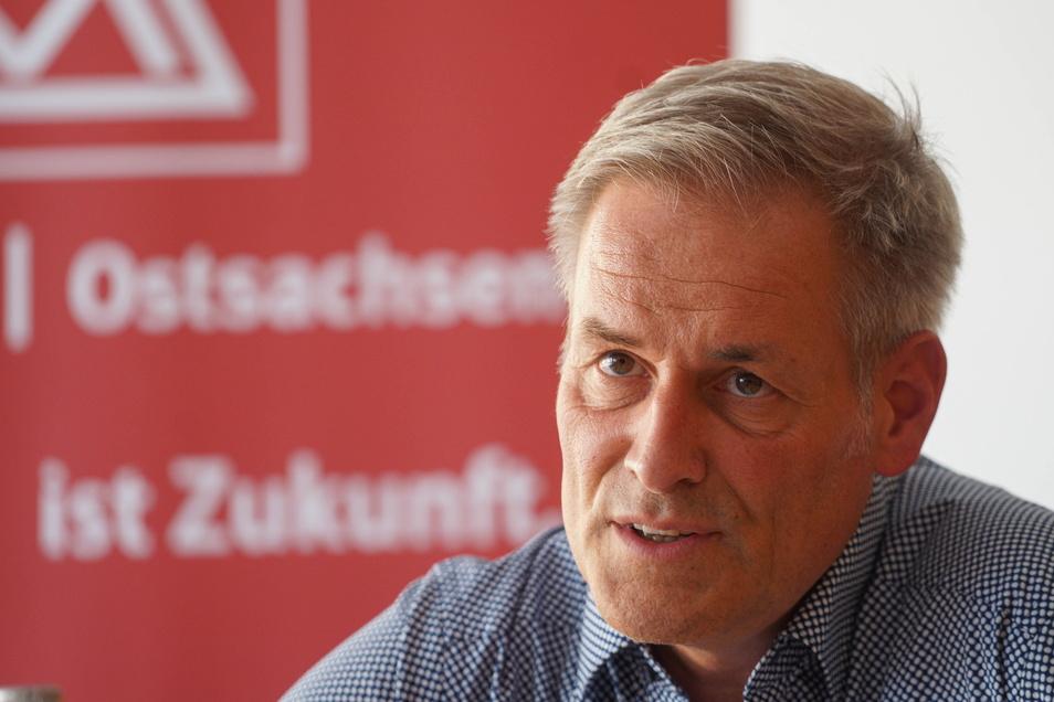 Uwe Garbe ist seit Kurzem der Erste Bevollmächtigte der Industriegewerkschaft Metall für Ostsachsen.