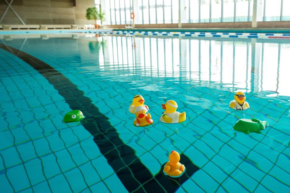 Noch ist das Schwimmbecken im Krokofit verwaist. Bald soll es wieder Schwimmunterricht geben.