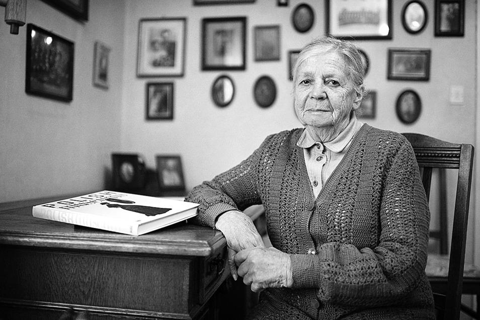 Hanna Majewska in ihrem Wohnzimmer in Zgorzelec vor sieben Jahren.