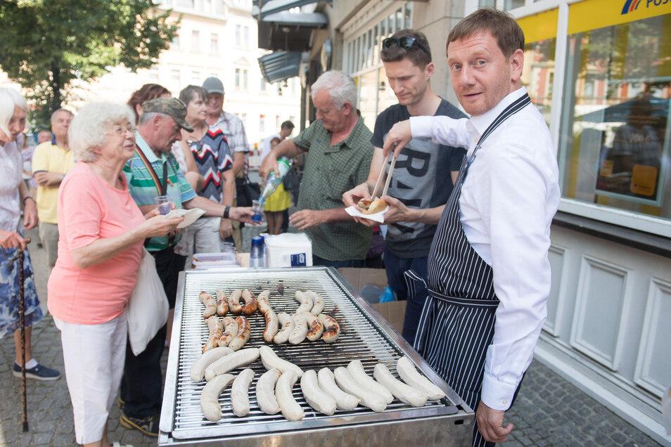 Für Sachsens CDU und Michael Kretschmer geht es am September um die Wurst.
