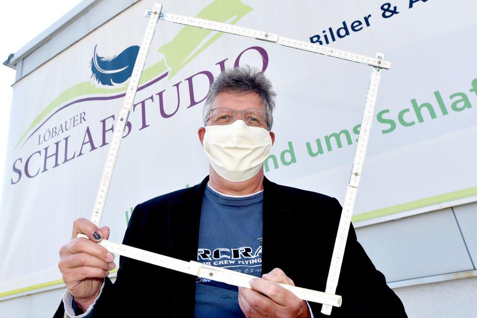 Peter Schulz hat noch mal nachgemessen. Sein Löbauer Schlafstudio hat 682 Quadratmeter.