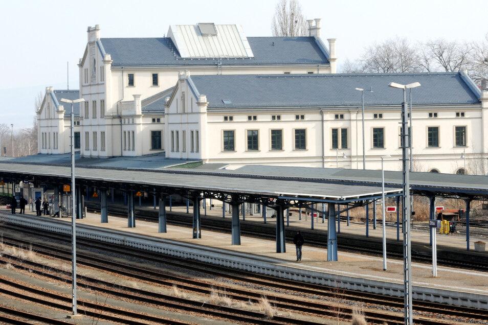 Blick auf den Zittauer Bahnhof.