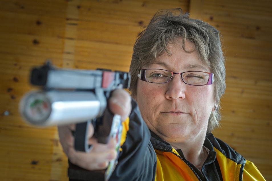 Zielsicher: Anke Matthes.