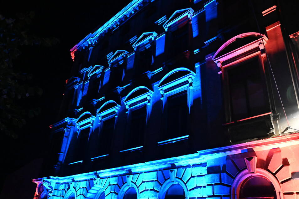 Zittaus ohnehin schöne Architektur kam durch die Farben noch besser zur Geltung.