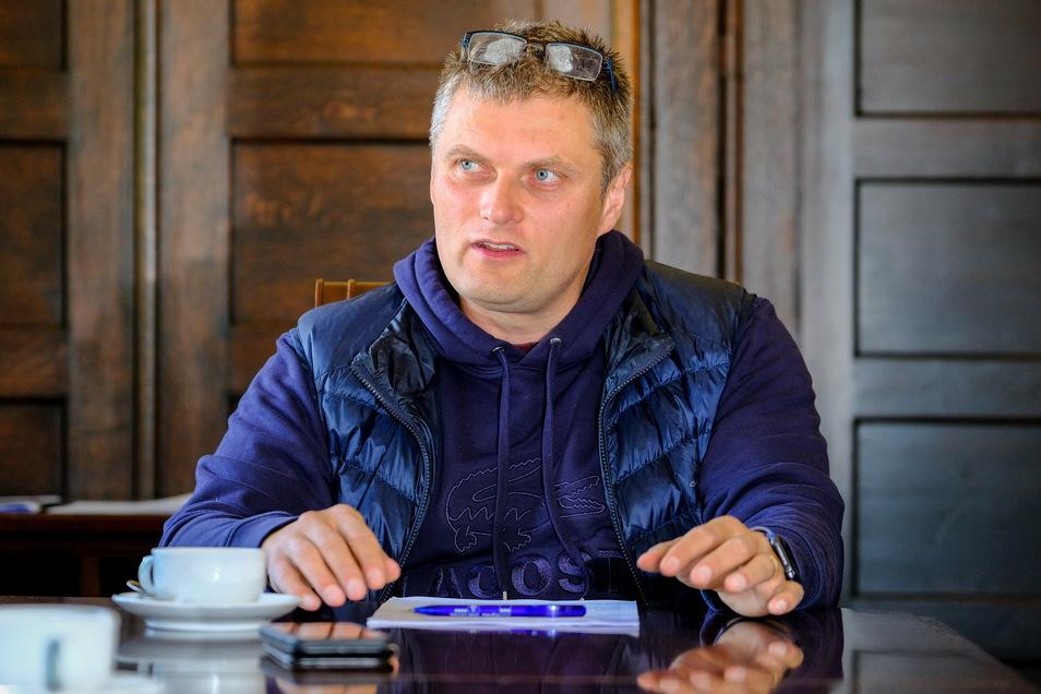 """Bürgermeister Siegfried Zenker blickt nach vorn: """"Weinböhla hat beste Voraussetzungen, sich weiterhin als bevorzugter Wohn- und Erholungsort sowie auch als Bildungsstandort zu etablieren."""""""