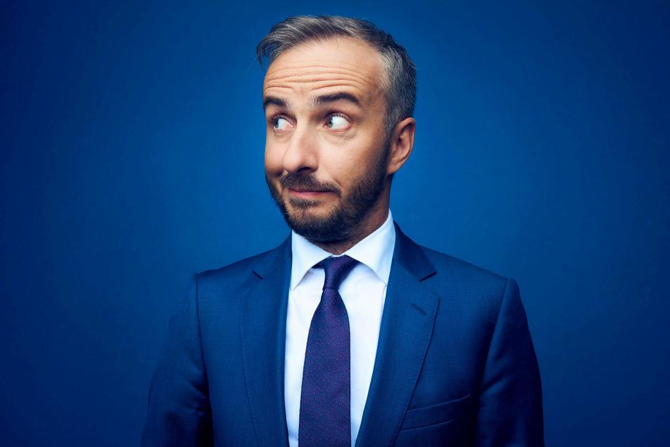 Jan Böhmermann, TV-Entertainer, sorgte unter anderem 2016 mit einem Schmähgedicht auf den türkischen Präsidenten Erdogan für politische Wellen.