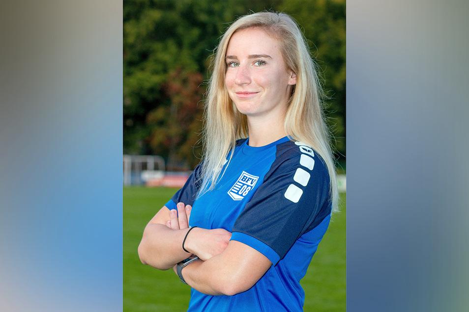 Sarah Wilsch ist Stürmerin der Frauen-Regionalligamannschaft des Bischofswerdaer FV 08.