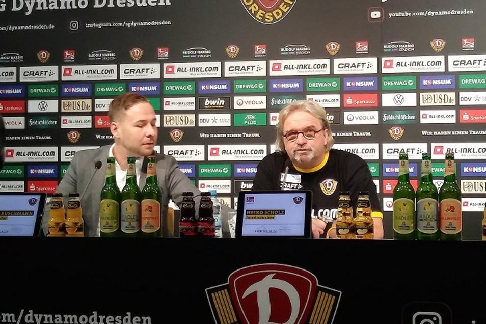 Heiko Scholz bereitet Dynamo aufs Heimspiel gegen Sandhausen vor. Vorher erklärt er sich und seine Arbeit bei der Pressekonferenz.